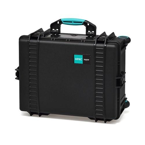 HPRC 2600 W Black Empty case w/wheels