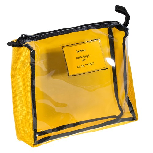 Bestboy 713 027  Cable Bag L yellow