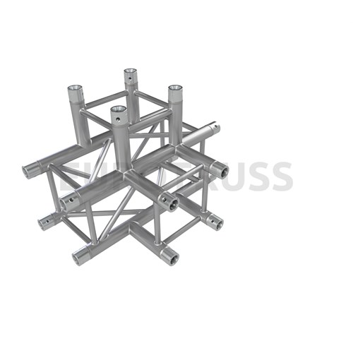 Eurotruss FD34 T-joint + down 4-way corner 71x50x50cm