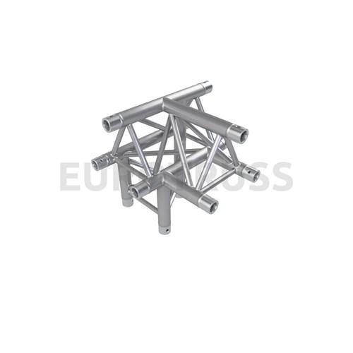 Eurotruss FD33 T-joint + down LEFT 4-way corner 50x50x50cm