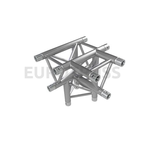 Eurotruss FD33 T-joint + up LEFT 4-way corner 50x50x50cm