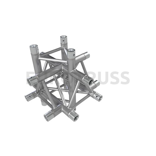 Eurotruss FD33 X-joint + up + down 6-way corner 50x50x50cm