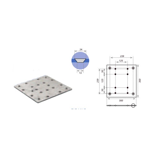 Eurotruss Adapter Plate Small incl. spac