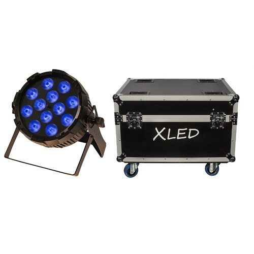 Bright XLED 10 stk i flightcase - Xline