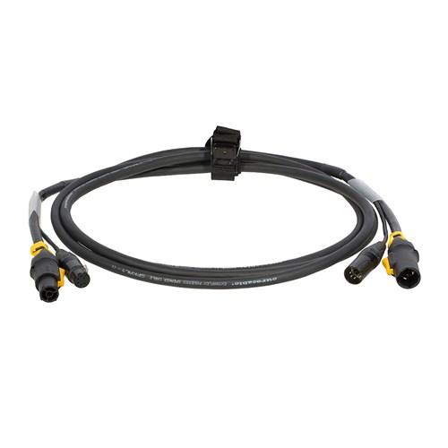Hybridkabel PowerConTrue1/DMX XLR5P  3m m/stropp