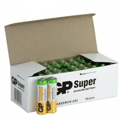 Batteri    1,5v AA  40 pakke LR6 GP Super Alkaline