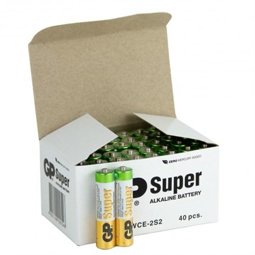 Batteri    1,5v AAA  40 pakke LR3 GP Super Alkaline