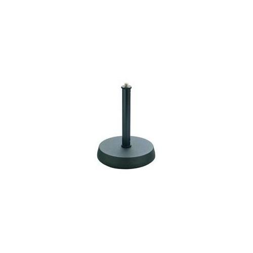 K&M 232B mik.stat. Bordstativ svart rundfot 15cm