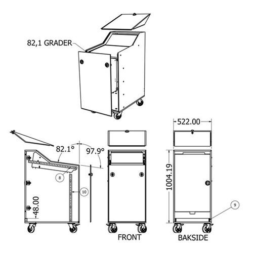 Rufo Bright kasse til Bomar STG120 sag - Rød