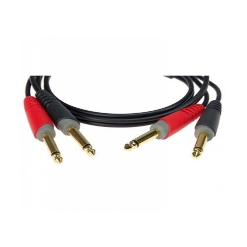 Klotz PM 2x jack-kabel, mo.jack M/M, 3m