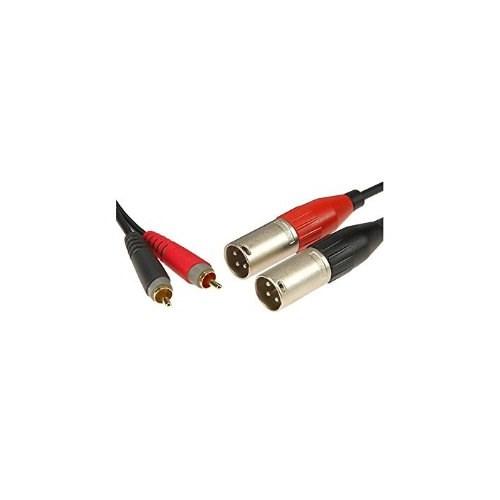 Klotz PM 2x overgangskabel  phono - XLR M, 1m  AT-CM0100