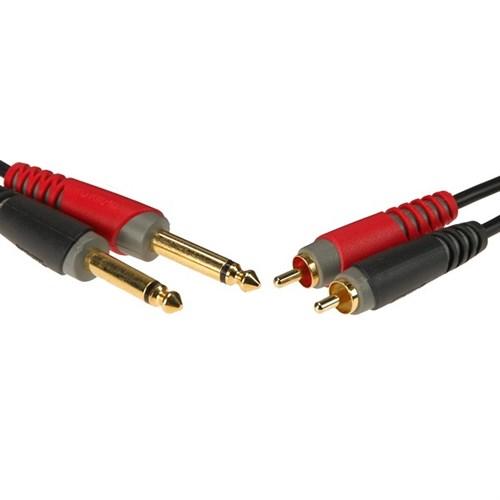 Klotz PM 2x overgangskabel, phono - jack, 3m