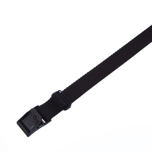 Stropp 300x25mm m/ø13mm sydd kabeløye svart nylon reim