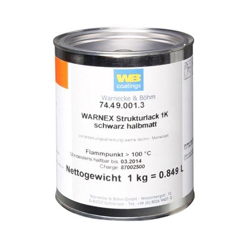 Warnex texture paint 1 kg Høyttalermaling svart