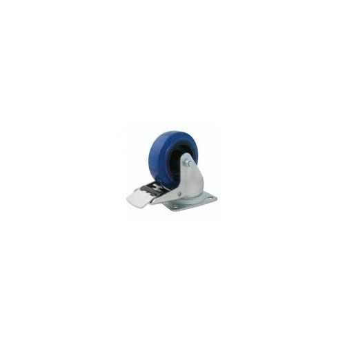 Penn   W0985-01 HD Hjul 100mm blå m/lås, Guitel